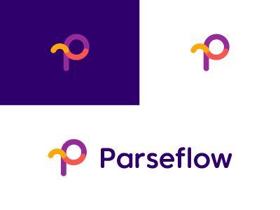 Parseflow / P / logo design by Deividas Bielskis #Design Popular #Dribbble #shots