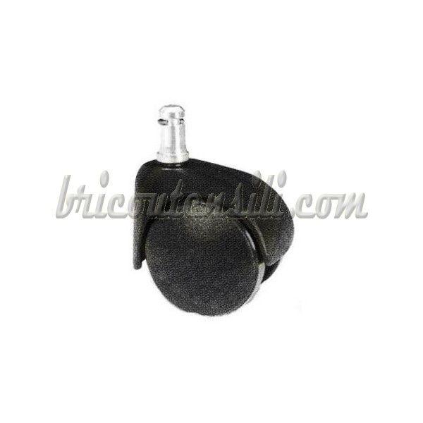 Ruota di ricambio con inserto a spinotto, ideale per poltrone con ruote piroettanti.