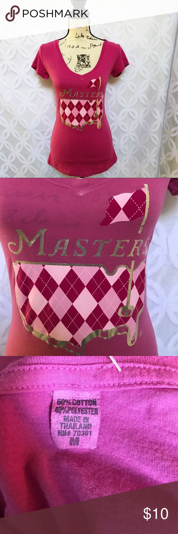 """PGA Master Augusta National Golf Club Tee PGA Master Augusta National Golf Club Tee NWOT.                   Measurements Laying Flat Size  M Armpit to Armpit 17"""" Shoulder to Hem 27"""" Bundle to Save  Sorry NO outside transactions  NO trades  Reasonable Offers welcomed  NO Low balling  NO modeling  NO Holds All items from a pet and Smoke Free Home  Happy Poshing  Tops Tees - Short Sleeve"""