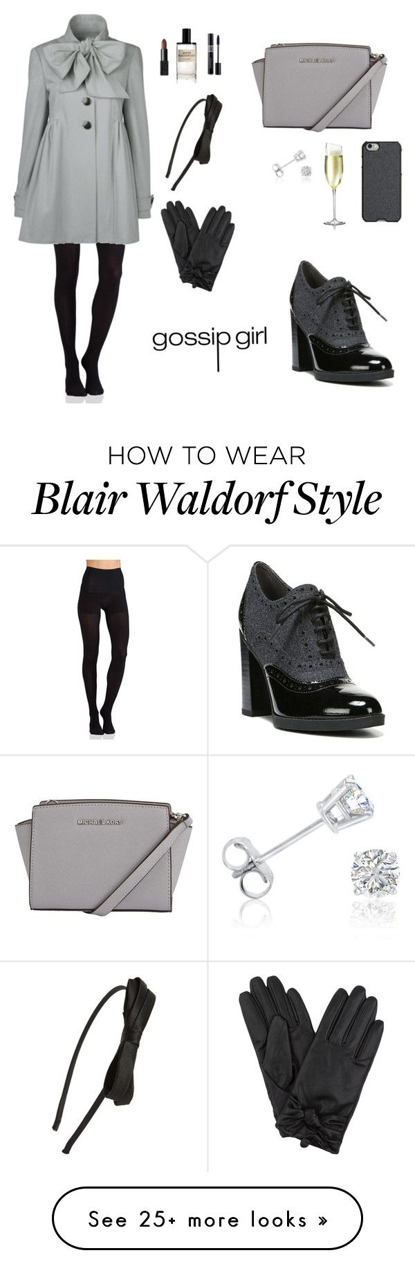 """BLAIR WALDORF INSPIRED LOOK"" by twyzter on Polyvore featuring Commando, Franco Sarto, NARS Cosmetics, Christian Dior, Tasha, D.S. & DURGA, Agent 18 and Amanda Rose Collection"