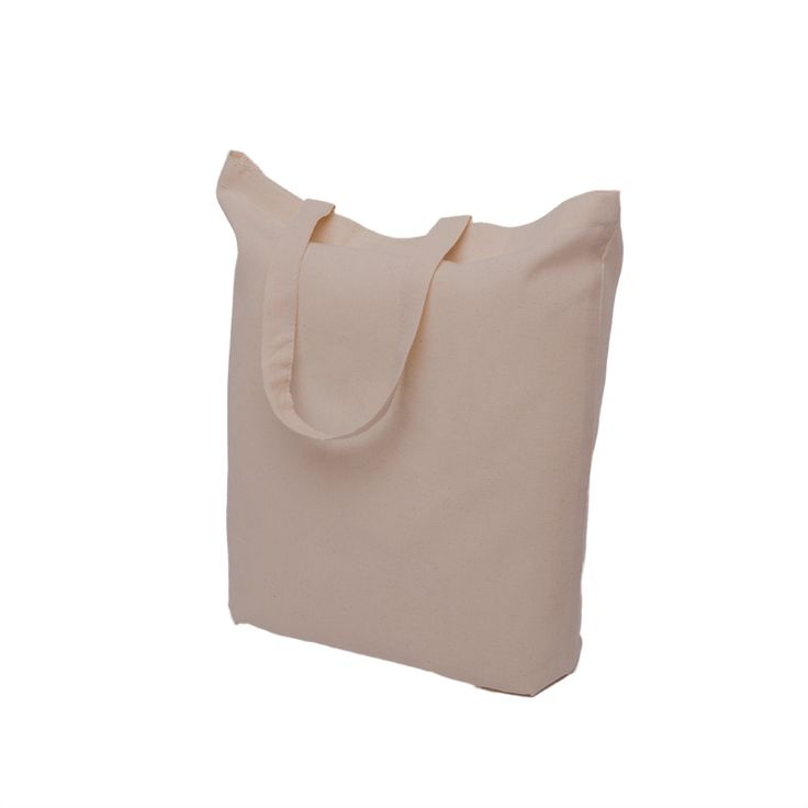 Grey cotton bag with short handle