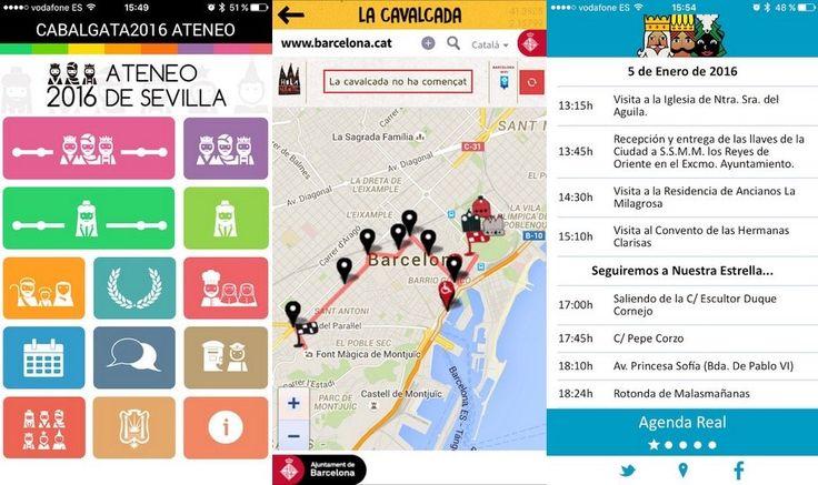 Apps para seguir la cabalgata de Reyes Magos en Barcelona, Sevilla y Alcalá