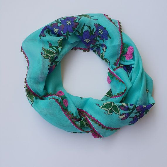 Check out this item in my Etsy shop https://www.etsy.com/listing/453468460/turkish-scarf-cotton-floral-turquoise