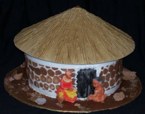 African Hut Cake | Bayete Cakes