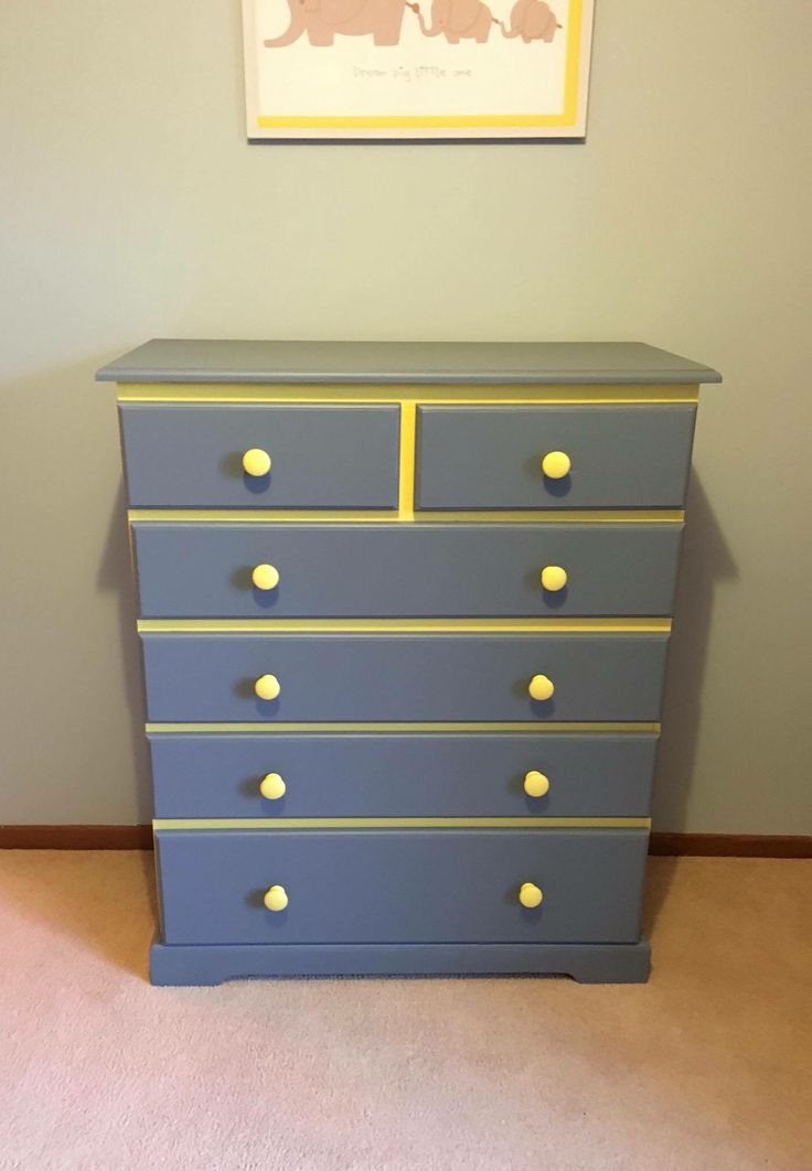 Two tone chest of draws modified for unisex bedroom  Contact: tquin77@hotmail.com