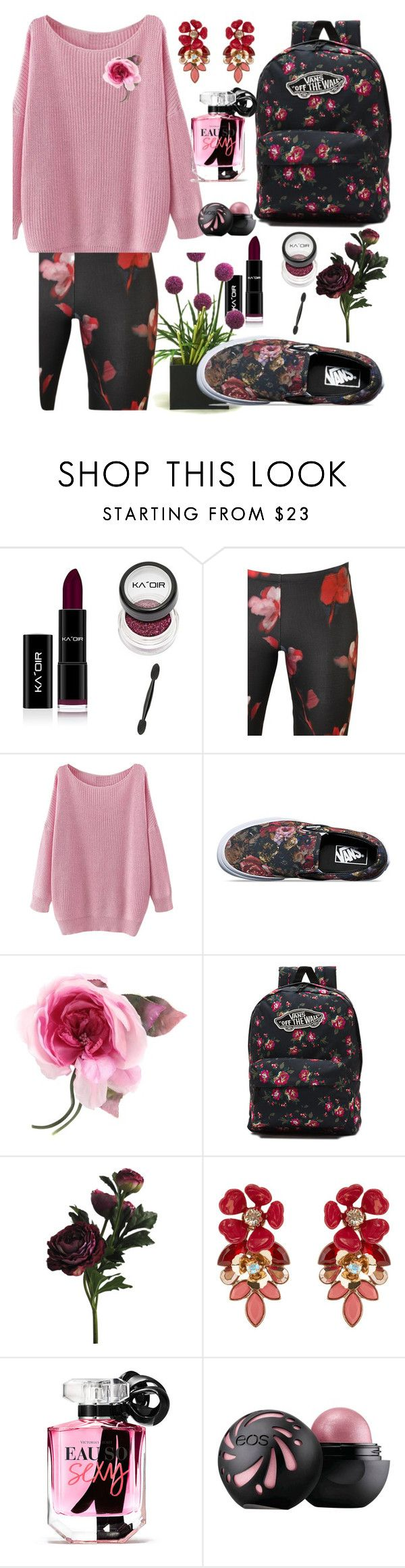 """""""flowers"""" by daliaoutfits ❤ liked on Polyvore featuring Black Coral, Vans, Gucci, Accessorize and Victoria's Secret"""