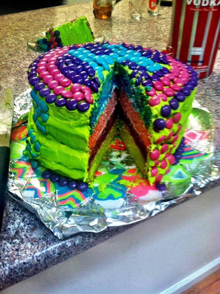 1000 Images About Neon Cakes On Pinterest Neon Birthday