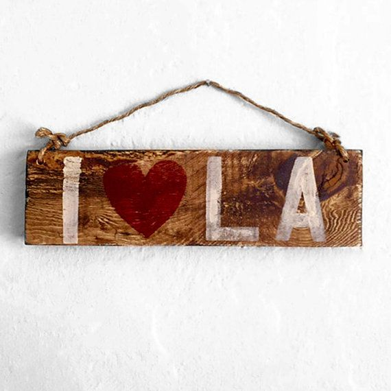 I Heart L.A. Sign / I Love L.A. Sign / Los by HollyWoodTwine