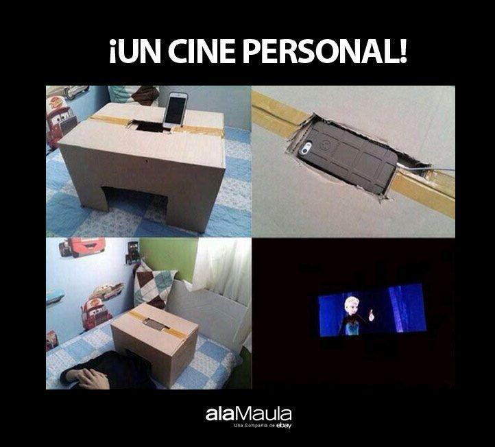 Un cine personalizado con un #celular  http://www.alamaula.com/l/celulares-y-telefonos/S4