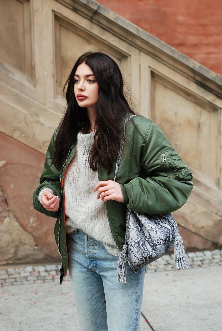 Finke sweater, Levi's 501 CT jeans, Alpha Industries MA-1 jacket, Sote rings, Zofia Chylak bag, Balagan shoes