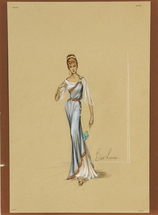 original signed exotic Greek Roman costume