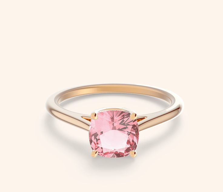 Peach Sapphire Rings   Serena Setting