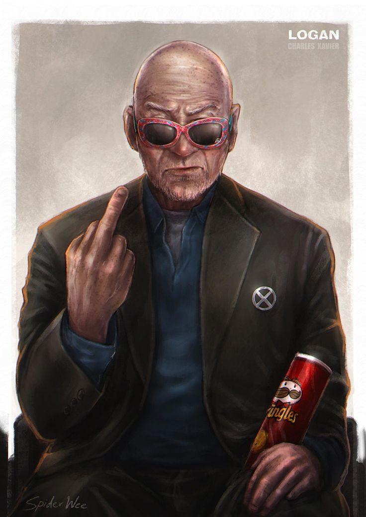 Charles Xavier :  LOGAN , SpiderWee . on ArtStation at https://www.artstation.com/artwork/0r1Ww