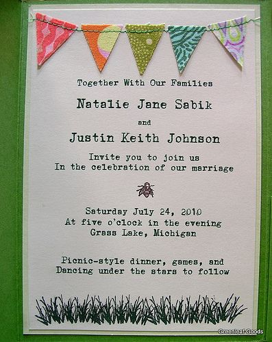 ooo sewn on details... great party invite