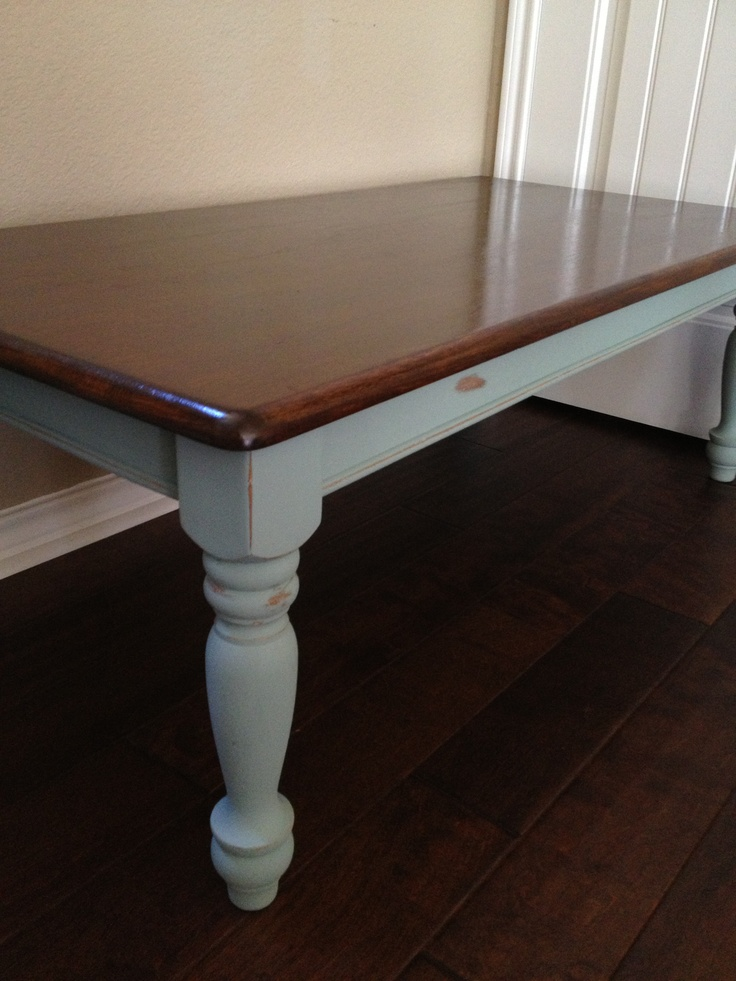 $20 coffee table redone in my favorite color...Duck Egg.Coffee Tables, Crafts Ideas, Favorite Colors Ducks, Redon Furniture, Tables Redon, Colors Ducks Eggs, Tables Ideas, Diy Decor, Projects Inspiration
