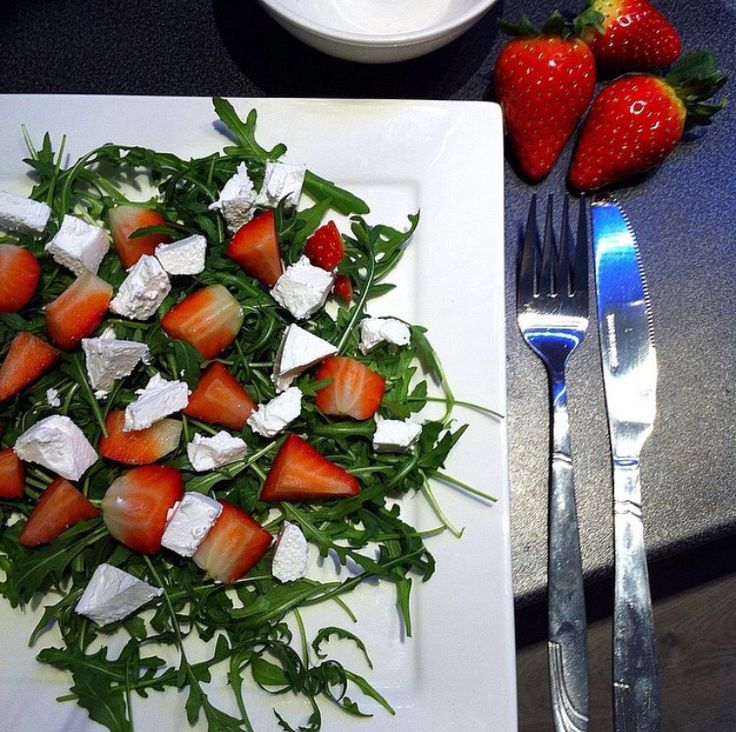 #mysalad #strawberries #fitness #motivation