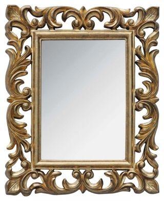 """Oglindă """"Vivienne"""" - oglindă de perete de o rafinată eleganţă, cu rama vopsită în auriu patinat. Aduce o notă de sofisticare clasică decorului în care îşi găseşte locul, fie el interior de living, dormitor sau hol.  http://www.retroboutique.ro/mobila/oglinzi-antichizate/oglinda-vivienne-1205"""