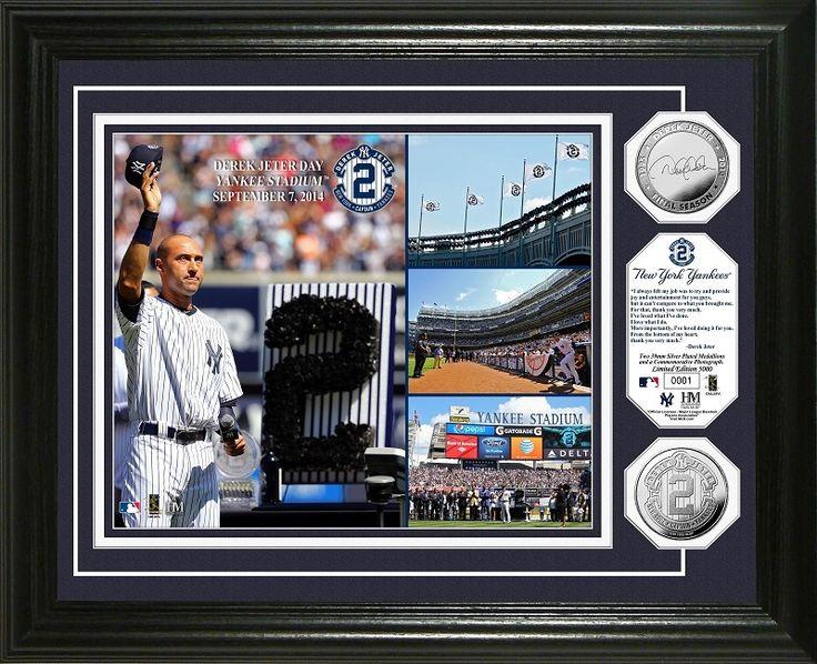 AAA Sports Memorabilia LLC - New York Yankees Derek Jeter Day Silver Coin Photo Mint, $119.99 (http://www.aaasportsmemorabilia.com/mlb/new-york-yankees-derek-jeter-day-silver-coin-photo-mint/)