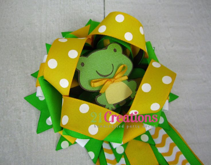 Frog Baby Shower Corsage by 21Creations on Etsy, $30.00   Mimi ...