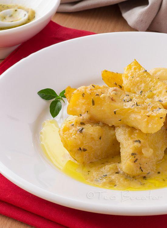 Cartofi  in sos de mustar si tarhon - o reteta simpla si rapida pentru o garnitura excelenta sau o mancare de post delicioasa...