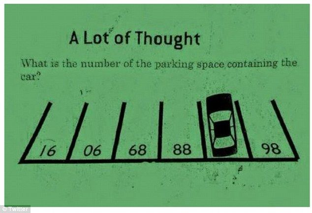 """Brain teaser: This logic problem from a Hong Kong elementary school entrance exam has beco... (I thought """"78"""", but didn't realise the number could be read upside down)"""