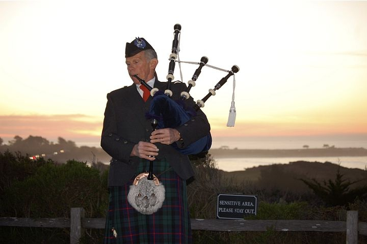 The bagpiper at sunset:  Spanish Bay.  Put this on your bucket list.  He walks across Pebble Beach golf course overlooking the ocean, playing his bagpipes every evening.  You can sit at the outside fire pits enjoying a hot chocolate or cocktail.  When it gets chilly, they bring you a cozy blanket.  The kids didn't get it....they preferred rolling down the hills, but the adults thought it was amazing!Hot Chocolate, Fire Pit