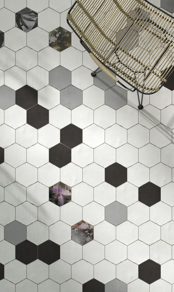 40++ Dark hexagon floor tile ideas