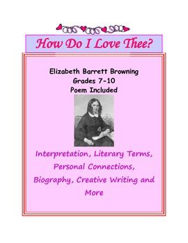 an analysis of the theme of love in how do i love thee by elizabeth barrett browning An analysis of the theme of love in how do i love thee by elizabeth barrett browning 683 words 2 pages the universal theme of eternal, transcending love in sonnet xviii by shakespeare and how do i love thee by elizabeth barrett browning  mistress' eyes are nothing like the sun and elizabeth barrett browning's how do i love thee 863.
