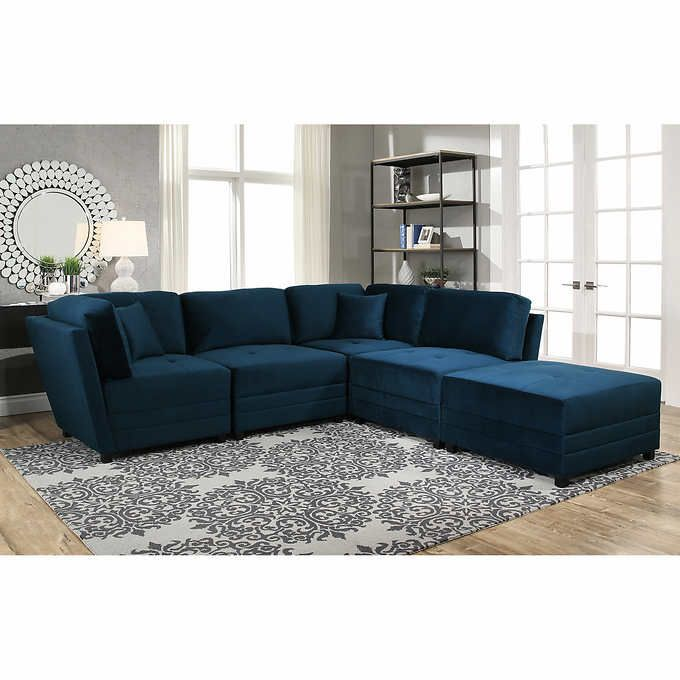 Astonishing Costco Leyla 5 Piece Fabric Modular Sectional Living Room Download Free Architecture Designs Scobabritishbridgeorg