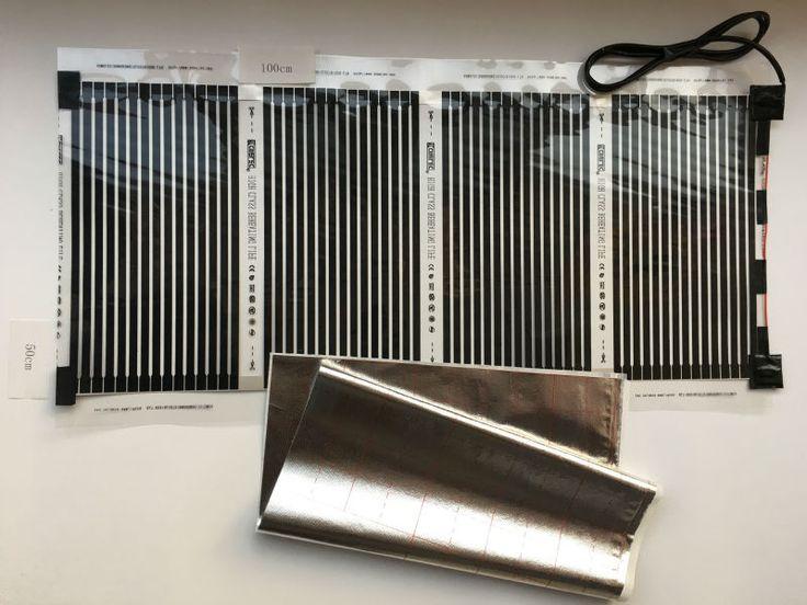 Nouveau 50 cm * 100 cm (0.5 m * 1 m) Infrarouge Lointain Électrique Chauffage Par Le Sol Films Avec 1.5 M Câble 220VAC 110 W