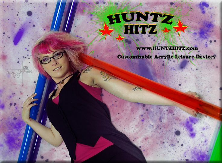 Quinn for Huntz Hitz! Showing off the tubes used to create artistic and custom acrylic's! Check us out @ www.huntzhitz.com