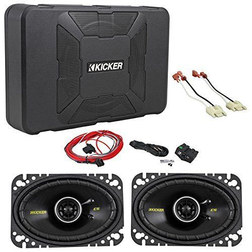 "YJ Jeep Wrangler Kicker 8"" Inch Sub and 4x6 Front Speakers"