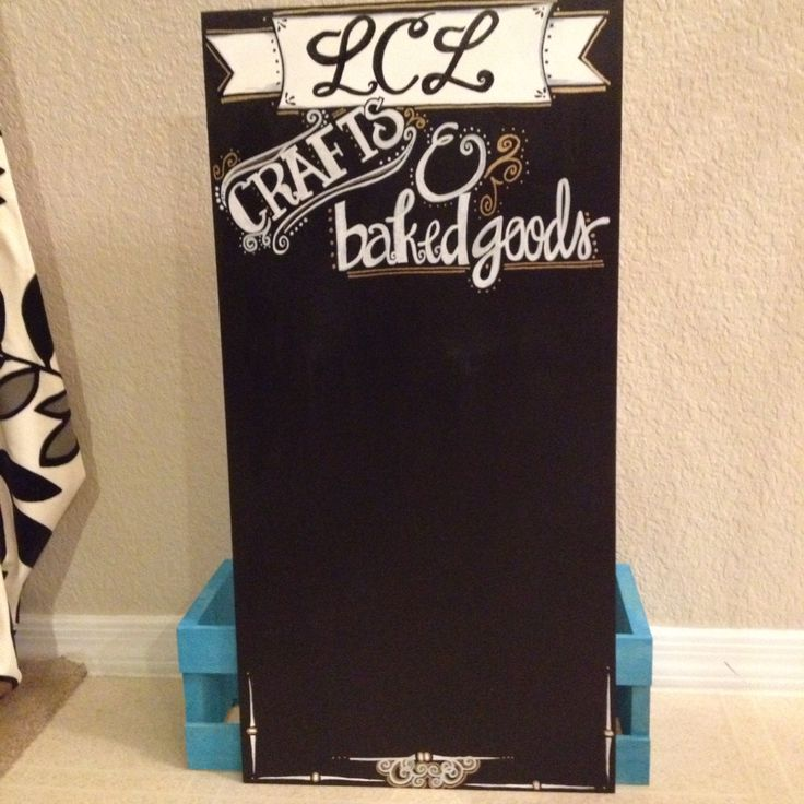 DIY chalkboard sign for my mom's craft table
