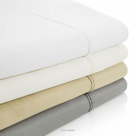 Want high thread count sheets with deep pockets. Prefer white so they can be bleached. Linenspa 800-Thread Count Cotton Blend Sheet Set - Sand - Queen Size - Walmart.com