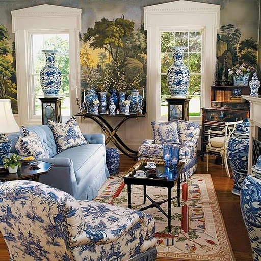 875 best Classic Blue   White images on Pinterest Find this Pin and more on Classic Blue   White . Blue And White Living Rooms. Home Design Ideas