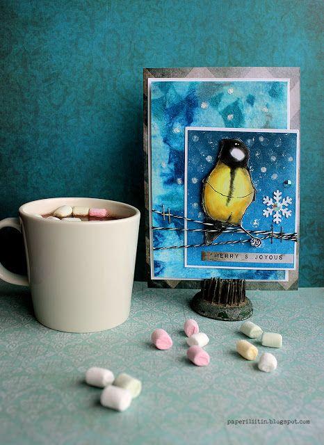 Riikka Kovasin - Paperiliitin: Pan Pastel card - Craft Stamper
