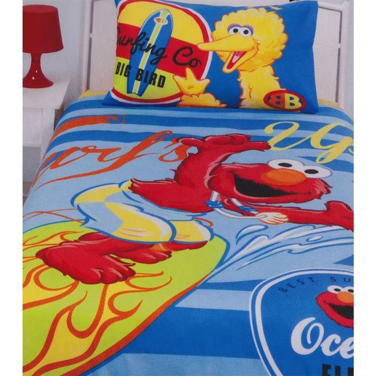 Sesame Street Surfs Up Quilt Cover Set