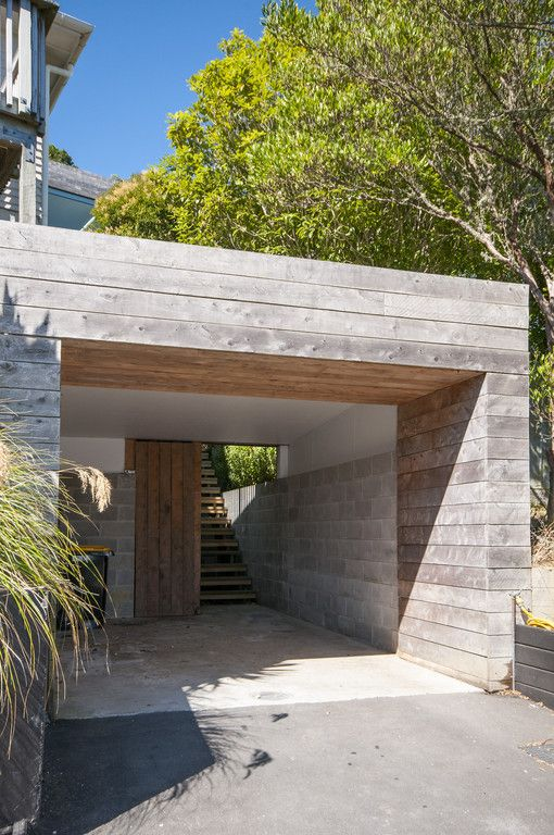 Carport and entry