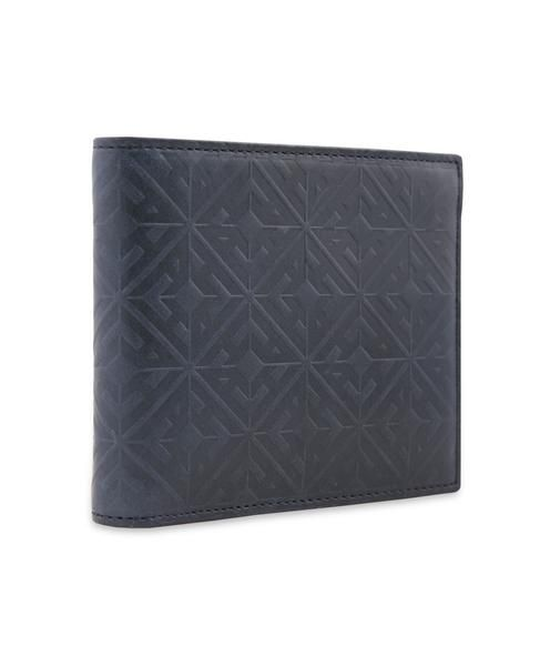 Hardy Amies embossed monogram leather wallet in navy. Italian leather & made in Italy. . #Dapper #Gentleman #Men #Menswear #BritishTailoring #Suit #SlimFit #Shirt #Tailored #Vintage #Class #Streetstyle #Classic #Classy #HardyAmies #LondonStyle #ModernMan