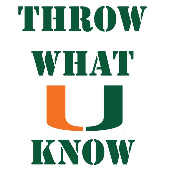 University of Miami, Throw What U know