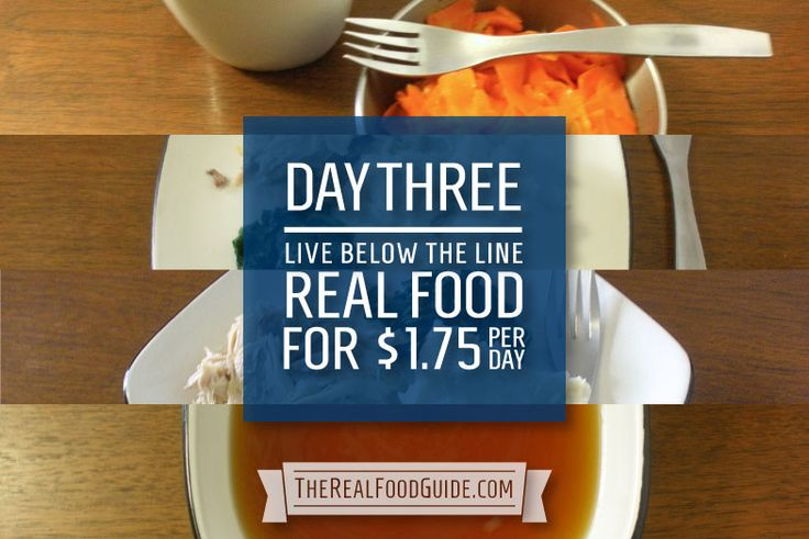 Day 3: Food break-down for the Live Below the Line Challenge http://livebelowtheline.com: Eating on a budget of $1.75/day