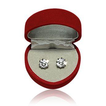 Earrings in Heart Box Valentýnské náušnice v dárkové krabičce
