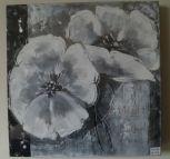 Schilderij olieverf zwart-grijs tinten
