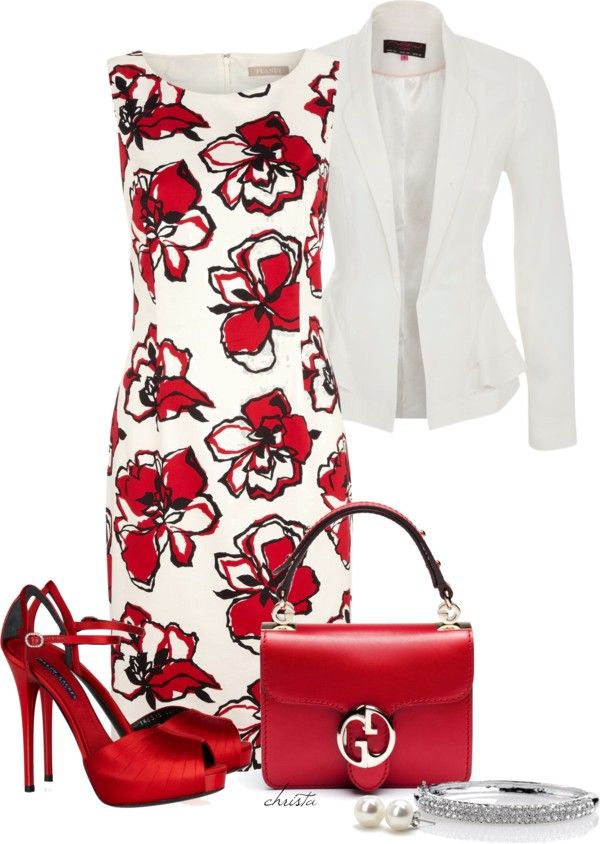 """Floral"" by christa72 ❤ liked on Polyvore"