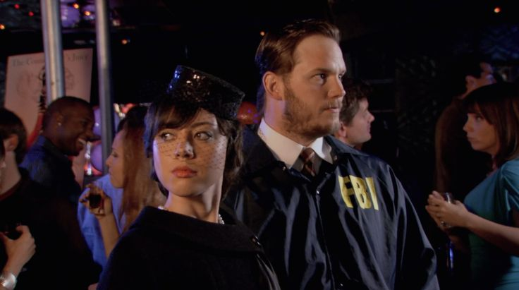 Andy and April as Bert Macklin and Janet Snakehole. Parks and Recreation, Episode 313