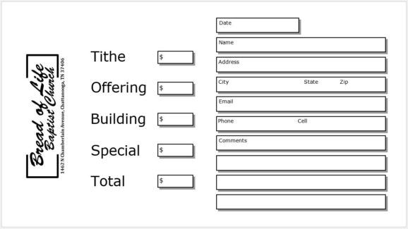 Free Downloadable Offering Envelope Templates For Microsoft
