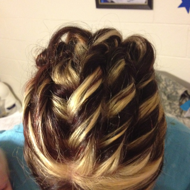 My awesome Military Ball hair!!