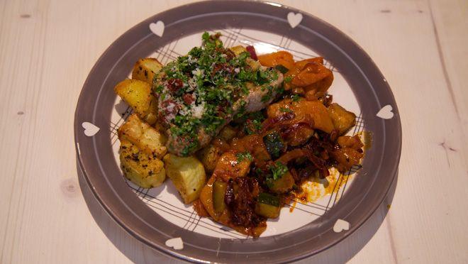 Kalfsschnitzels met zongedroogde tomaten-gremolata - recept | 24Kitchen