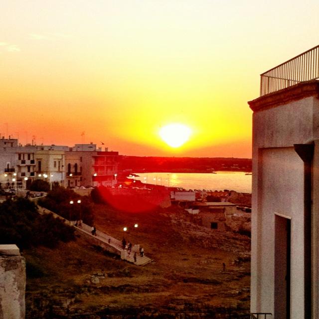 Sunset in Polignano a Mare