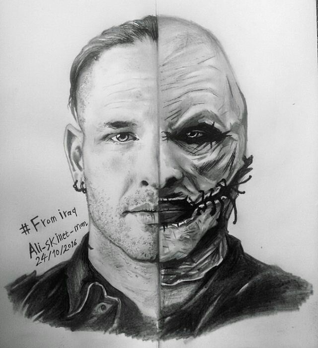 Amazing drawing #coreytaylor #cmft #8 #slipknot #thegraychapter